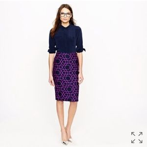 J.Crew No. 2 Pencil Skirt in Geometric Print