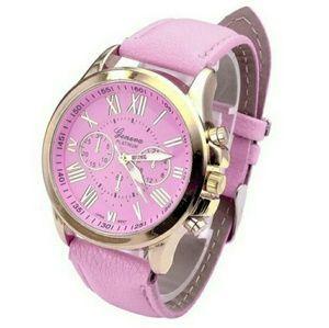 Geneva Platinum Accessories - NWT Geneva Pink & Gold Analog Quartz Watch