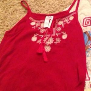 Justice Other - Justice tank size 12 red great for July 4th