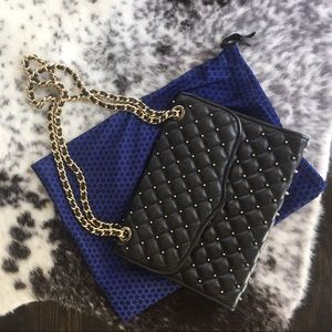 Rebecca Minkoff black studded shoulder bag