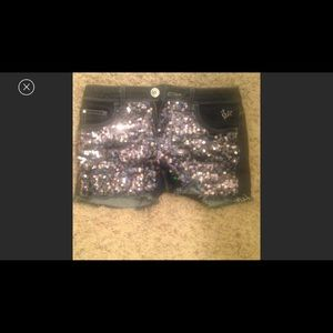 Justice Other - NEW!! sz 12 bling sparkle justice shorts dark Jean