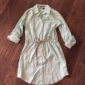 Sandra Ingrish Dresses & Skirts - Ingrish Drawstring Shirt Dress