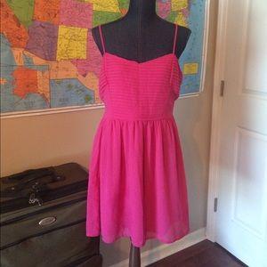 Bar III Dresses & Skirts - Dark pink chiffon sundress