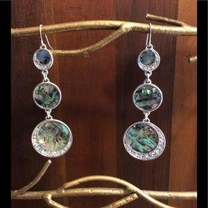 Macy's Jewelry - Abalone and Rhinestone Earrings