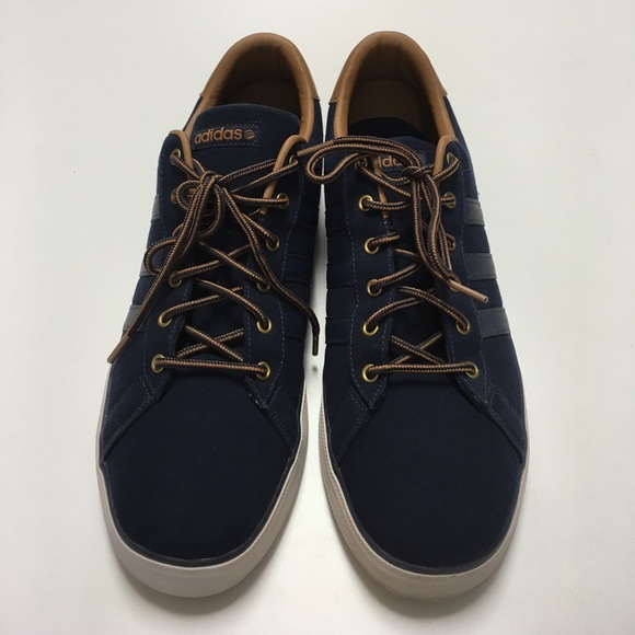 Adidas NEO Men's Daily Navy & Brown Size 13