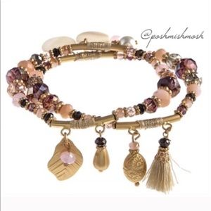 Posh Mishmosh Jewelry - ❤ MULTI CHARM BEADED BRACELET SET
