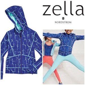 Zella Girl Other - Zella Girl Size L Crackle Print Zip Hoodie NWOT