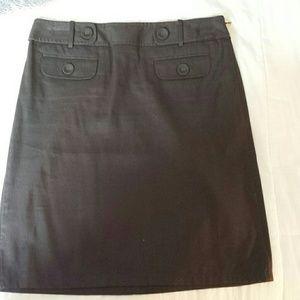 Ann Taylor Brown Pencil Skirt