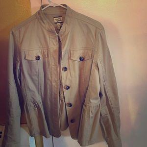 Bass long sleeved, crop waisted jacket, medium