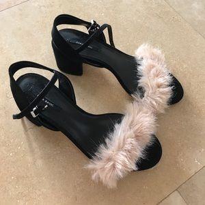 Zara Shoes - Zara fur heels