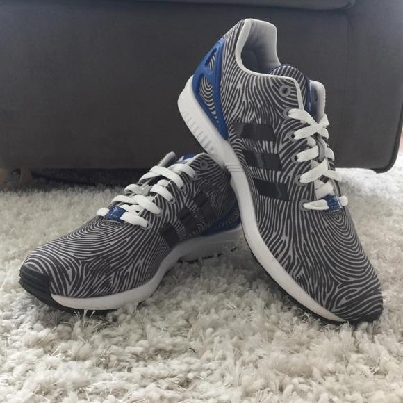 3190e676dd307 Adidas ZX Flux Men s 9.5 Fingerprint Sneakers