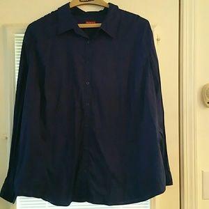 Merona navy blue button up shirt -  (size 28W/30W)