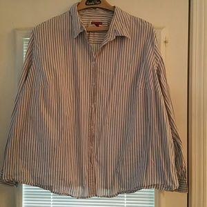 Merona stripped shirt (28W/30W)