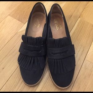 Seychelles Shoes - Navy fringe Seychelles loafers