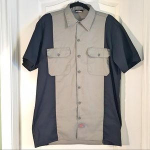 Dickies Other - Dickies Navy & Gray Button Down Shirt