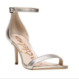 Sam Edelman Gold Ankle Strap Sandals Size 8