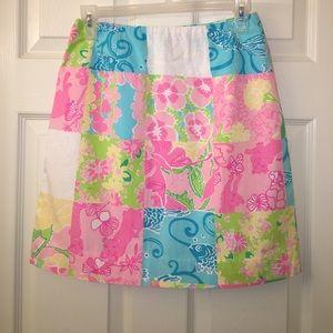 Lilly Pulitzer Dresses & Skirts - Lilly pulitzer Vintage Multi Patch midi skirt sz 2