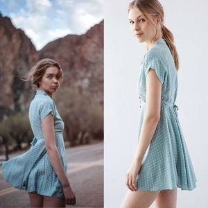 a4f96fa0421 Kimchi Blue Dresses - Kimchi💕Blue Lucy Sky Polka Dot Button Shirt Dress