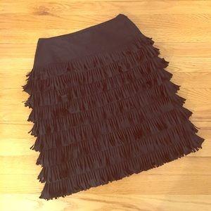 Etcetera Dresses & Skirts - Black skirt with fringe!