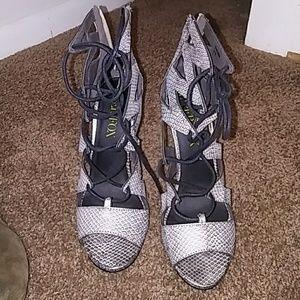 Paper Fox Shoes - Paper Fox Women's Snakeskin Heels 8
