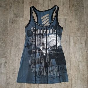 Salvage Tops - Vengeance Slashes Skull Tunic