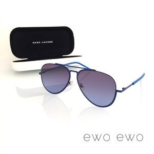Marc Jacobs Accessories - NWT Marc Jacobs Blue Aviator Sunglasses