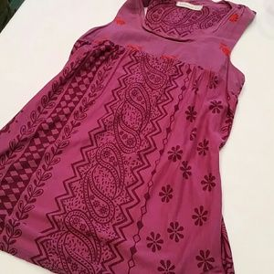 Anthropology Testament Tribal Embroidered Tank Top