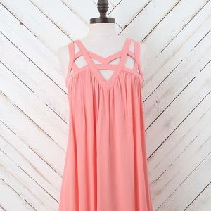 Altar'd State Dresses & Skirts - NWT Altar'd State Eye Catching Dress in Salmon