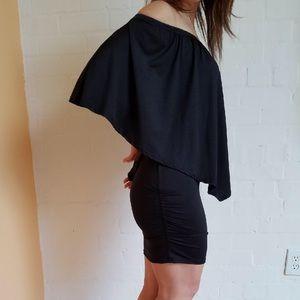 Dresses & Skirts - Mini black off-shoulder dress