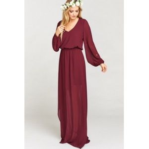 Show Me Your MuMu Dresses & Skirts - NWOT show me your mumu Jocelyn maxi merlot chiffon