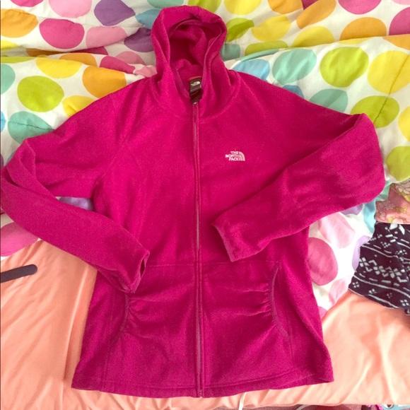 cd4f80b61 North Face Fleece Zip up Pink Fuchsia Hoodie