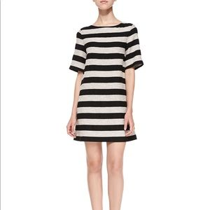 Alice + Olivia Dresses & Skirts - Alice + Olivia Mandy Striped Shimmer Sheath