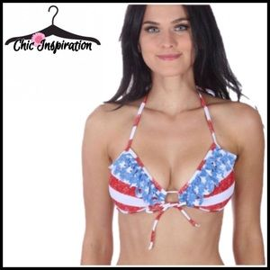 Other - Stars & Strips Bikini Padded Push-up Top NWT