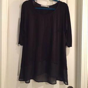 Kische Tops - Kische Black 3/4 Sleeve Tee Shirt Small