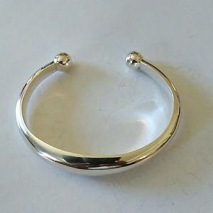 Unisex stunner Sterling Silver cuff.