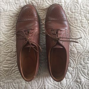 Madewell brown leather oxfords