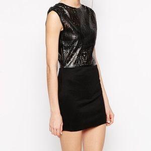House of Harlow 1960 Dresses & Skirts - BLACK LEATHER LASER CUT DRESS