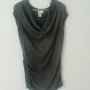 Sophie Max Tops - Silver sheer top. Small by Sophie Max
