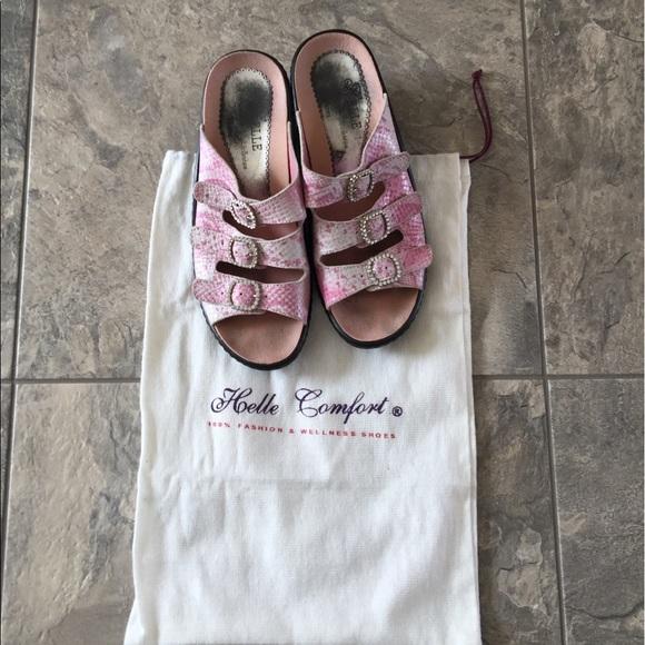 Helle Comfort Helle Comfort Shoes Pink Bling Sandals