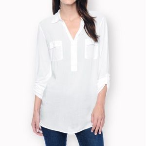 Splendid 3/4ths Media Top Small White NWT OP $98