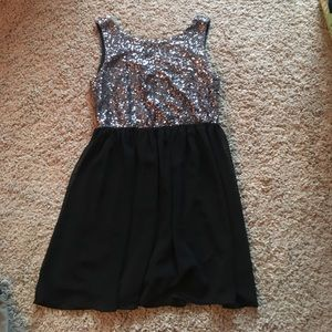 Pinky Dresses & Skirts - Silver Sparkly Flow Dress