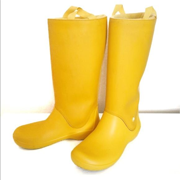 10940d6d5b1ad CROCS Shoes - Crocs Rainfloe yellow canary pull on rain boots 6