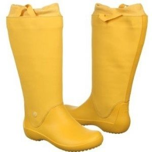 CROCS Shoes - Crocs Rainfloe yellow canary pull on rain boots 6