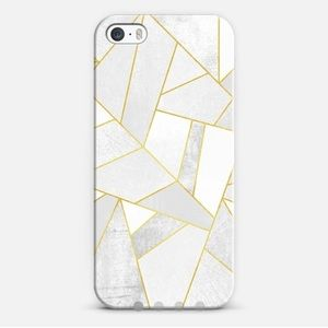 Casetify Accessories - Casetify iPhone 5S case in White Stone w/ Copper