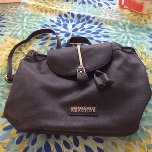 Kenneth Cole Reaction Handbags - Small leather drawstring backpack
