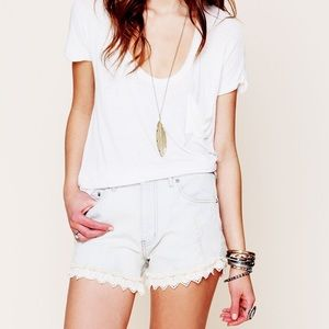 Free People Pants - Free People • Lacey high waisted cut off shorts