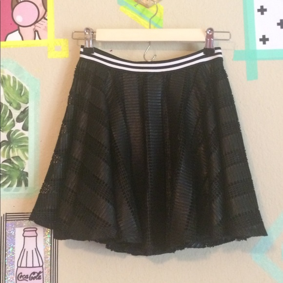 96aa9b8f3 BCBG Skirts | Nwot Blackwhite Sporty Black Circle Skirt | Poshmark