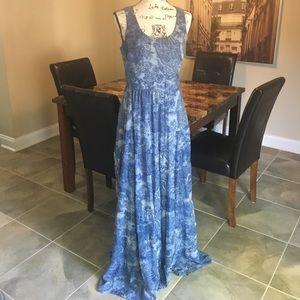 Betsey Johnson Paisley Chiffon Illusion Dress