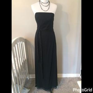 Bill Levkoff Dresses & Skirts - NWOT Bill Levkoff Long Black Belted Dress