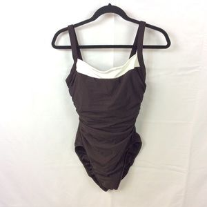 Miraclesuit Other - Miraclesuit Colorblock One Piece Swimsuit sz 12DD
